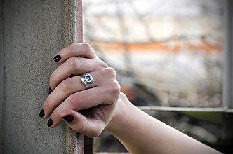 Prstene - industrial glitter ring II - 3762653_