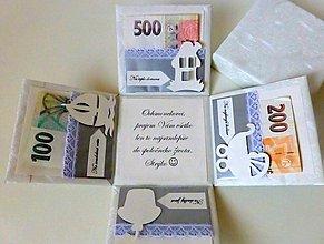 Krabičky - Krabička na peniaze pre novomanželov - 3768178_
