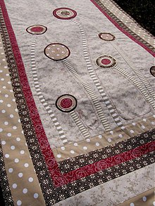 Úžitkový textil - V krajine zázrakov...bordó-hnedá verzia -záves :) - 3771584_