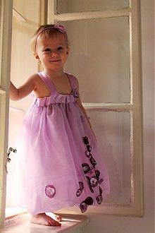 Detské oblečenie - Fialkový záhon. - 3775436_