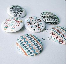 Odznaky/Brošne - Navajo ornaments (37mm) - 3829261_