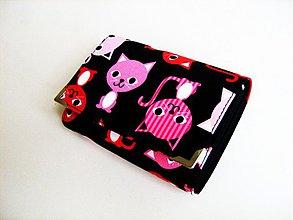 Peňaženky - Veselé kočičky - menší i na karty - 3830560_