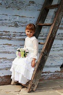 Detské oblečenie - Slávnostné biele šatočky - ZĽAVA z 50Eur - 3834899_