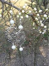 Náušnice - Strieborné kvety - 3842732_