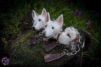 Kľúčenky - Kľúčenka s hlavou psa XL - podľa fotografie - 3845636_