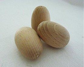 Polotovary - Drevené vajíčka - 3 ks - 3857277_