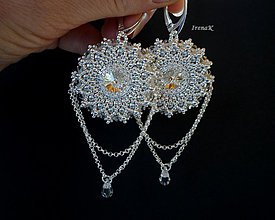 Náušnice - Silver Mandalas - 3859194_