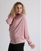 Topy - Růžový asymetrický rolák - 3902994_