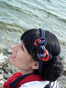 Ozdoby do vlasov - Malá Námorníčka - 3921526_