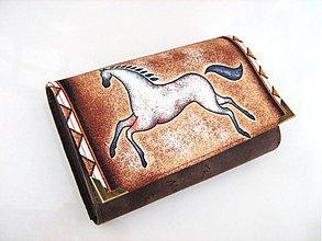 Peňaženky - Běloušek - peněženka s koníkem i na karty - 3963163_