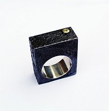 Prstene - Block black ring - 3976108_