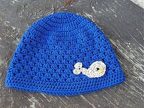 Čiapky - modrá s rybkou :) - 3988779_