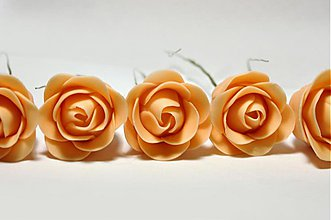 Drobnosti - Jedlé ružičky stredné 5 ks - 4013056_