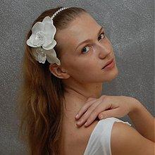 Ozdoby do vlasov - Svatební orchidea ... čelenka - 4073177_