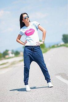 Nohavice - Nohavice s nízkym pudlom_DARK BLUE - 4079132_