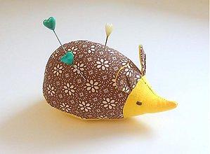 Úžitkový textil - ježko čokoládka - 4081486_
