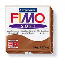 Modelovacie hmoty - Fimo soft hnedá (7) - 4103044_