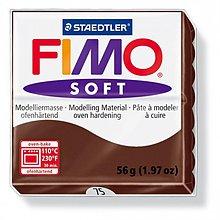 Modelovacie hmoty - Fimo soft čokoládová (75) - 4103062_