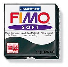 Modelovacie hmoty - Fimo soft čierna (9) - 4103081_