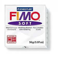 Modelovacie hmoty - Fimo soft biela (0) - 4103095_