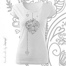 Tričká - Dámske tričko krátky rukáv rôzne farby KRÁSA V SRDCI - 4103989_