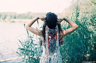 Ozdoby do vlasov - Bohemský vlasový venček - 4123382_