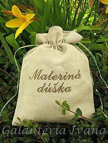 Úžitkový textil - Vrecúško na sušené bylinky a hríby s vyšívaným názvom - 4163434_