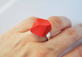 Prstene - Astoria ring coral red - 4175480_