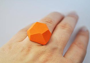 Prstene - Astoria ring orange - 4175519_