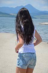 Nohavice - Riflové kraťásky výšivka - 4179952_