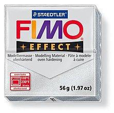 Modelovacie hmoty - Fimo effect metalická strieborná (81) - 4181848_