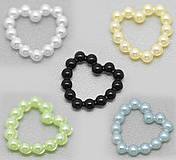 Dekorácie - Perleťové srdiečka mini (balíček 50ks) - 4200793_
