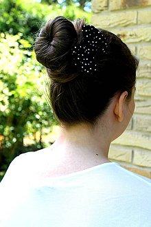 Ozdoby do vlasov - Oživ sa - Čierna bodka - 4207679_