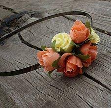 Ozdoby do vlasov - Drobné ružičky - 4209182_