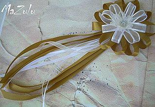 Pierka - svadobné pierko zlaté č.1 - 4240215_