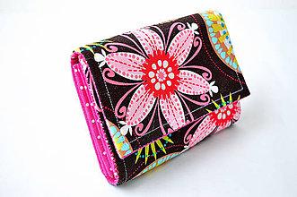 Peňaženky - Kvetovaná peňaženka - 4294051_