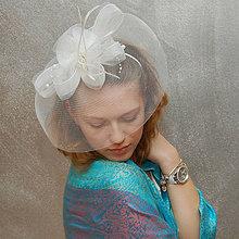 Ozdoby do vlasov - Bride Rose ... klobouk či fascinator SLEVA - 4300705_