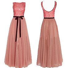 Šaty - Spoločenské šaty s tylovou sukňou a krajkovým vrškom rôzne farby - 4299457_