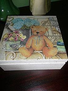Krabičky - s macíkom - 4298646_