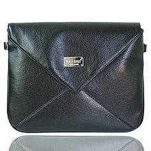 Kabelky - Miss Envelope Middle no. 49 Shiny Black - 4313424_