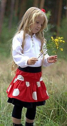 Detské oblečenie - *S puntíky - podzimní sukýnka* - 4349891_