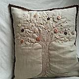 Úžitkový textil - vankúš stromos gombíkovos - 4366868_