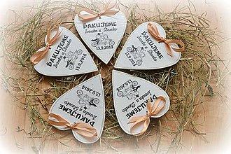 Darčeky pre svadobčanov - Srdiečka svadobné - magnetky - 4377207_