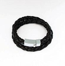 Náramky - Pánsky kožený náramok - 4420956_