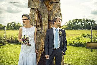 Šaty - Krásne vílovské svadobné šatky pre sl.D. - 4418368_