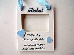 Rámiky - rámik v modrom - 4447474_