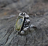 Prstene - Art & Craft citrine ring - 4455501_