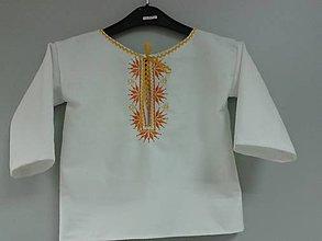 Detské oblečenie - košieľka s výšivkou - 4454390_