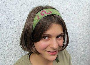 Ozdoby do vlasov - zelená plstená čelenka - 4472051_