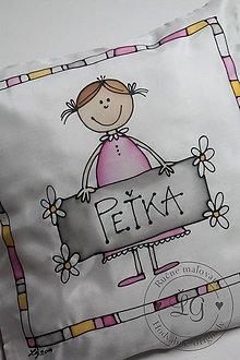 Úžitkový textil - obliečka DIEVČATKO - 4482796_